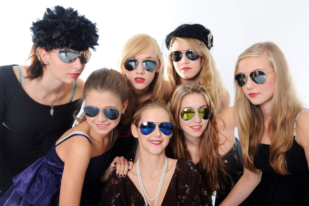 Mädchen, Sonnenbrille, Fotoshooting, Geburtstag